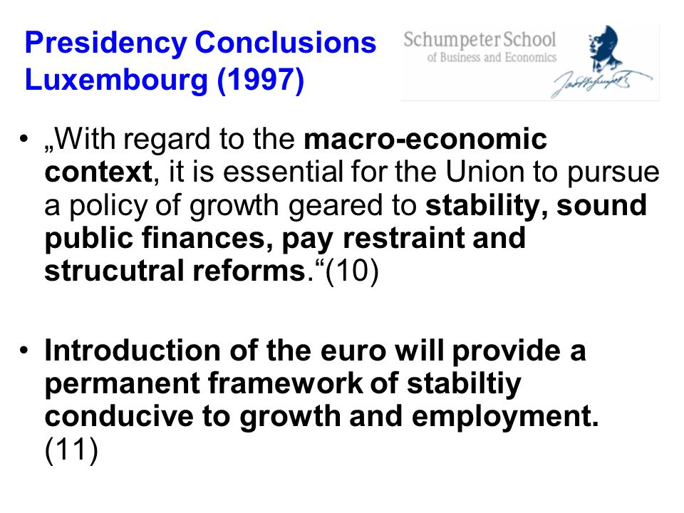 Presidency Conclusions Luxembourg (1997)