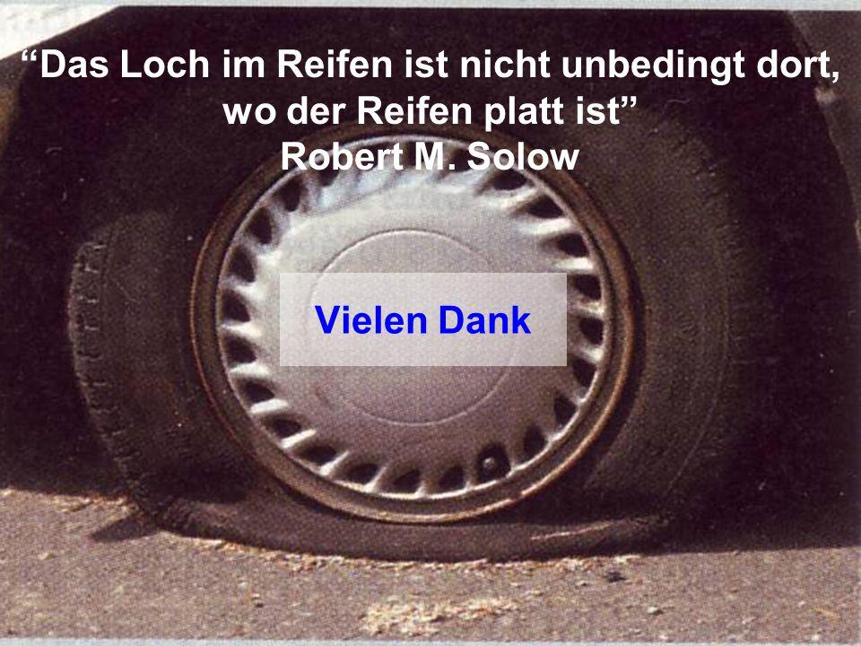 Das Loch im Reifen ist nicht unbedingt dort, wo der Reifen platt ist