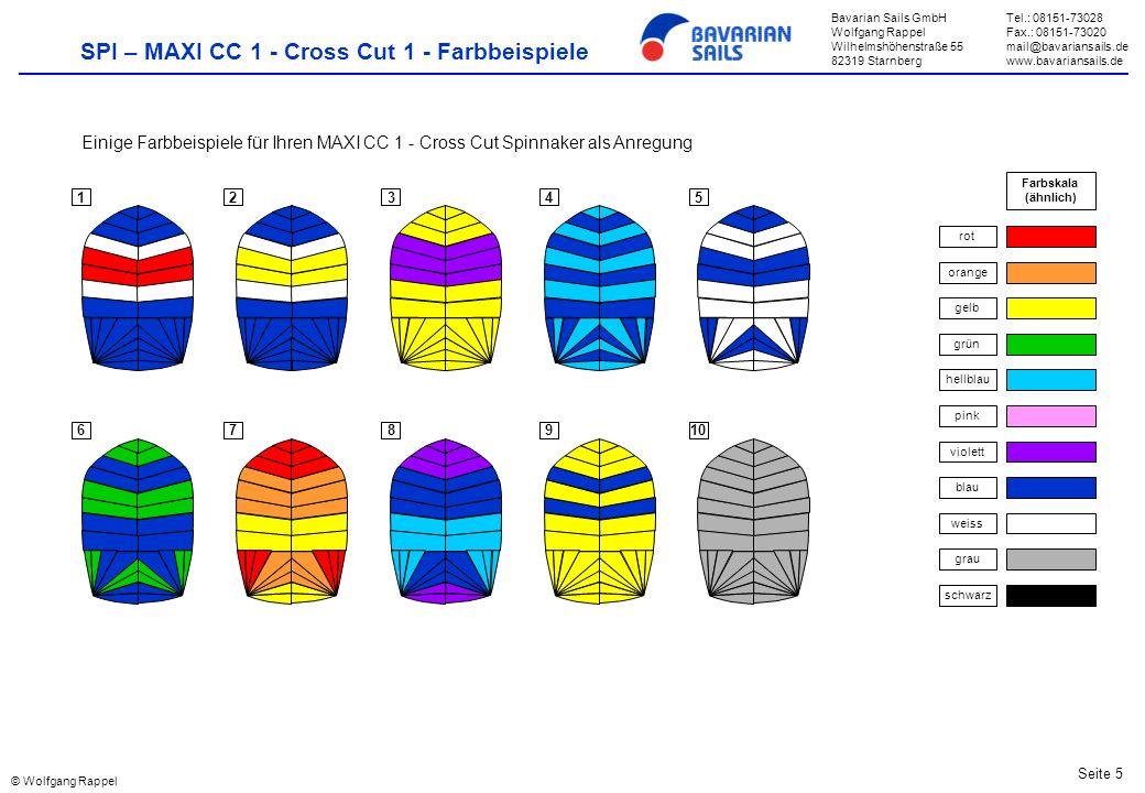 SPI – MAXI CC 1 - Cross Cut 1 - Farbbeispiele