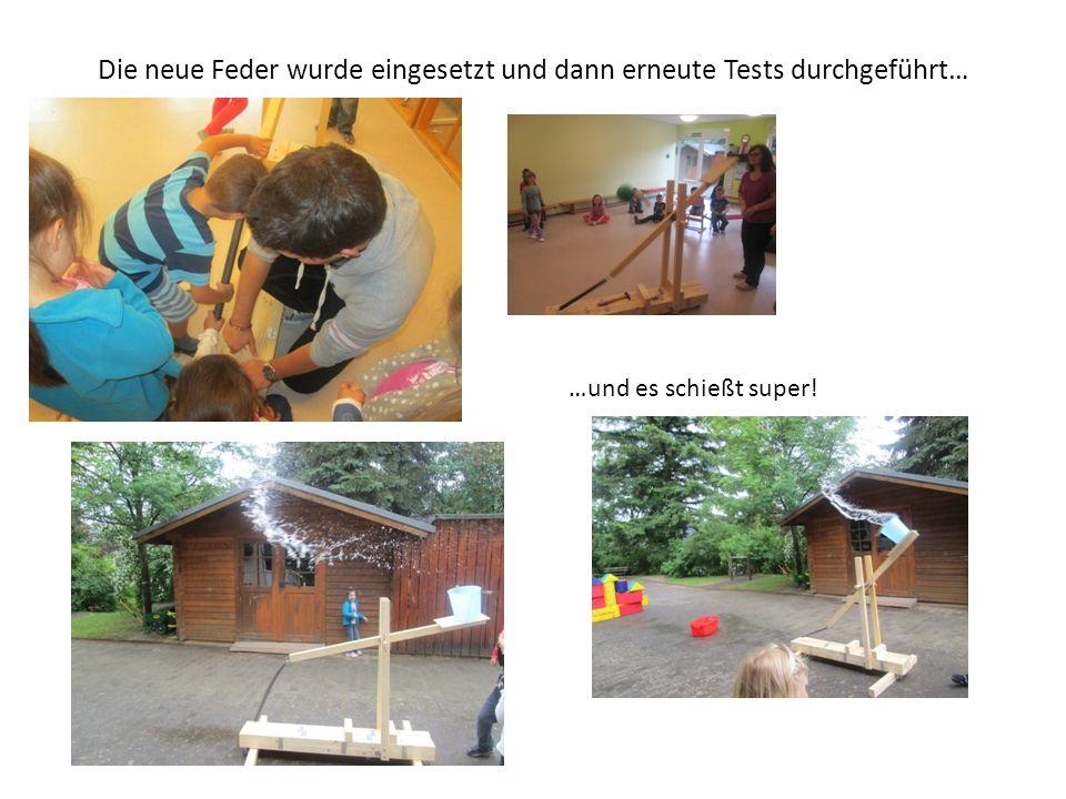 Die neue Feder wurde eingesetzt und dann erneute Tests durchgeführt…
