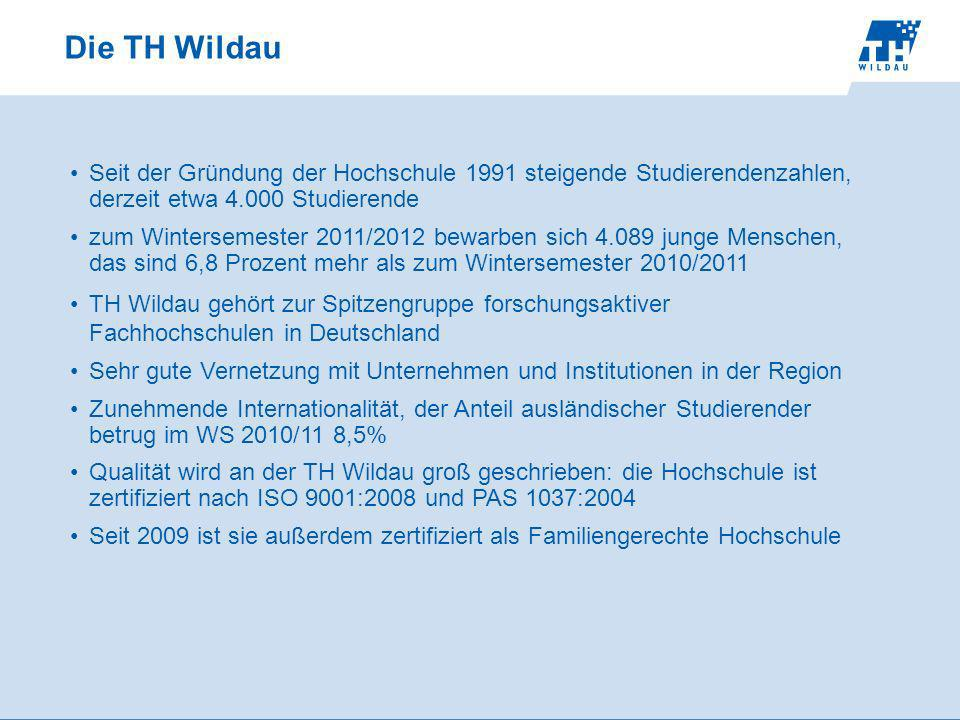 Die TH Wildau Seit der Gründung der Hochschule 1991 steigende Studierendenzahlen, derzeit etwa 4.000 Studierende.