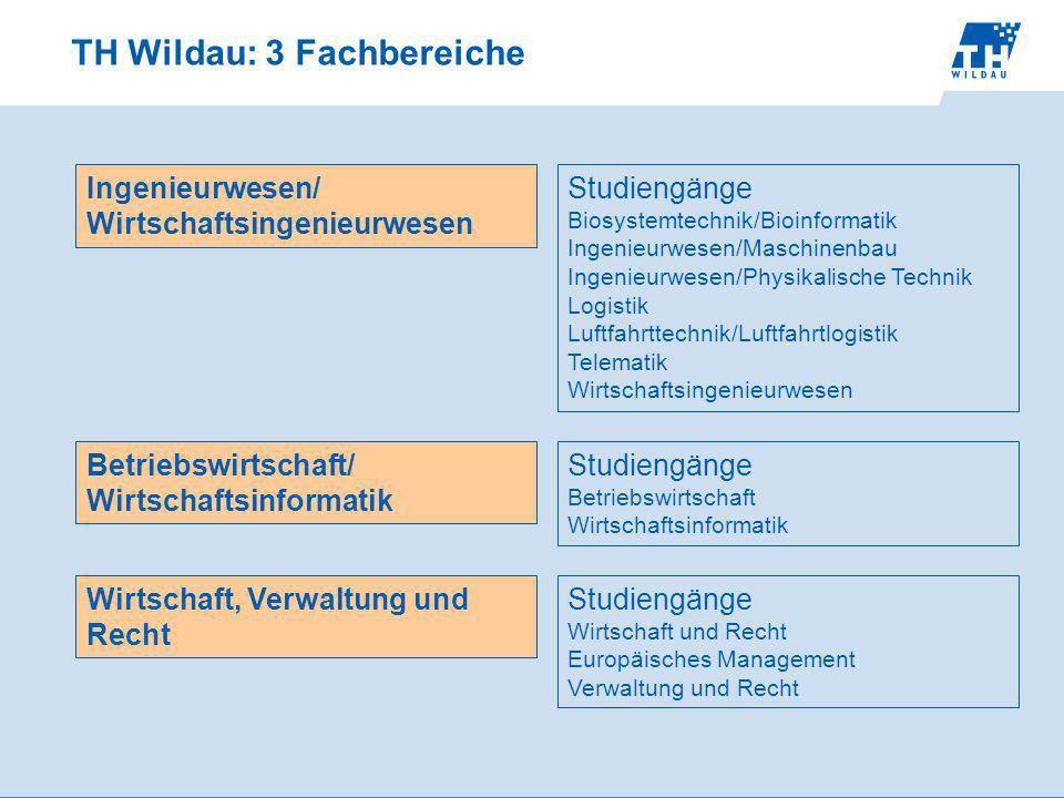 TH Wildau: 3 Fachbereiche