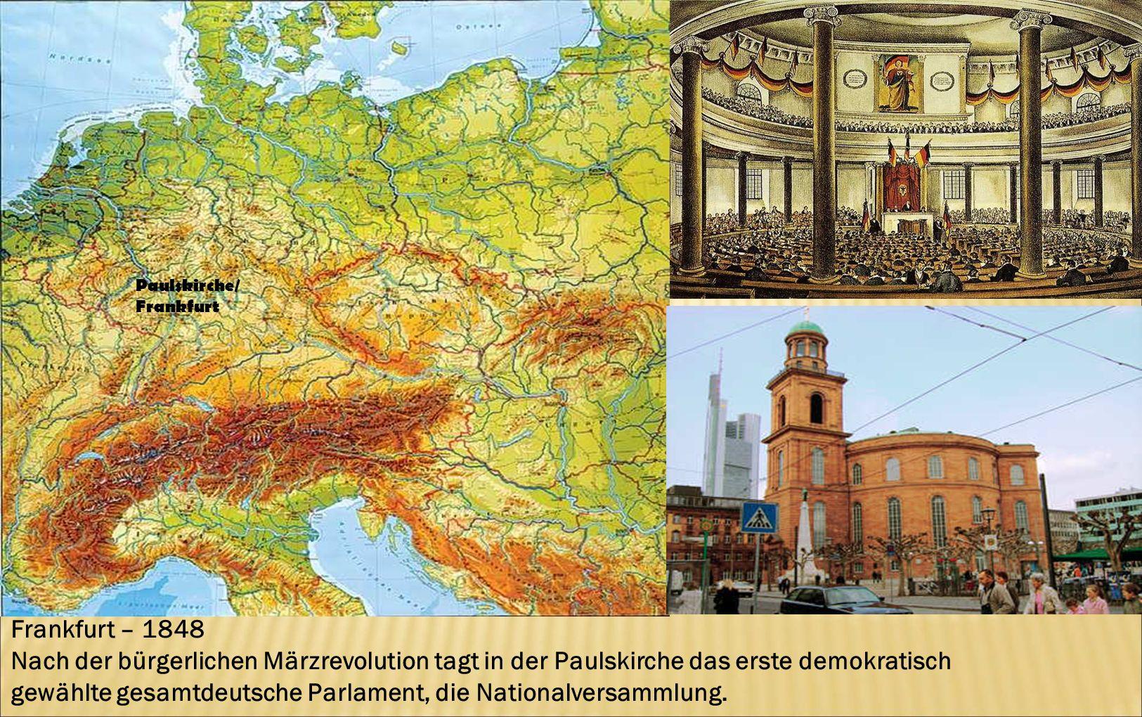 gewählte gesamtdeutsche Parlament, die Nationalversammlung.