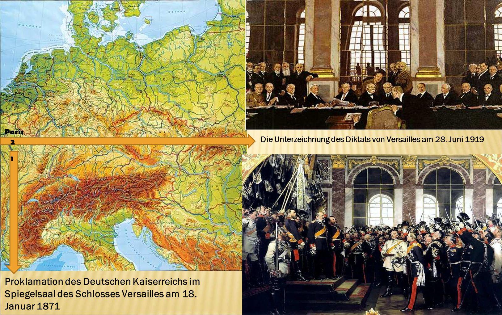 Paris Die Unterzeichnung des Diktats von Versailles am 28. Juni 1919. 2. 1.