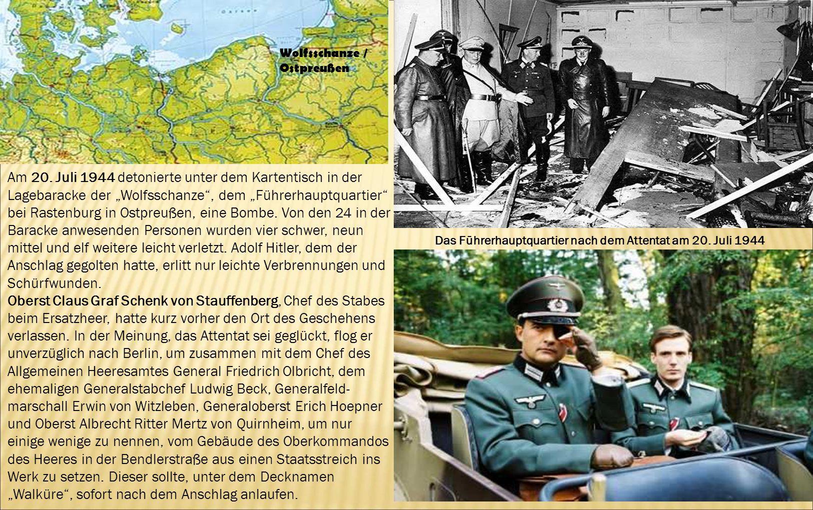 Das Führerhauptquartier nach dem Attentat am 20. Juli 1944