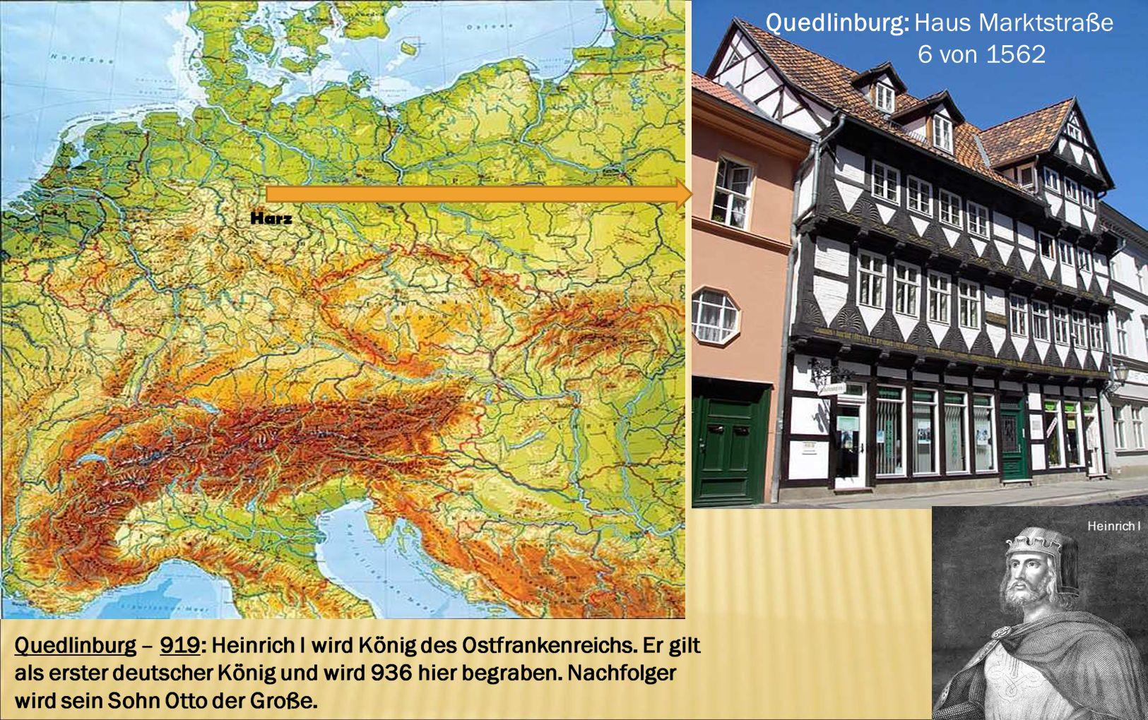 Quedlinburg: Haus Marktstraße 6 von 1562