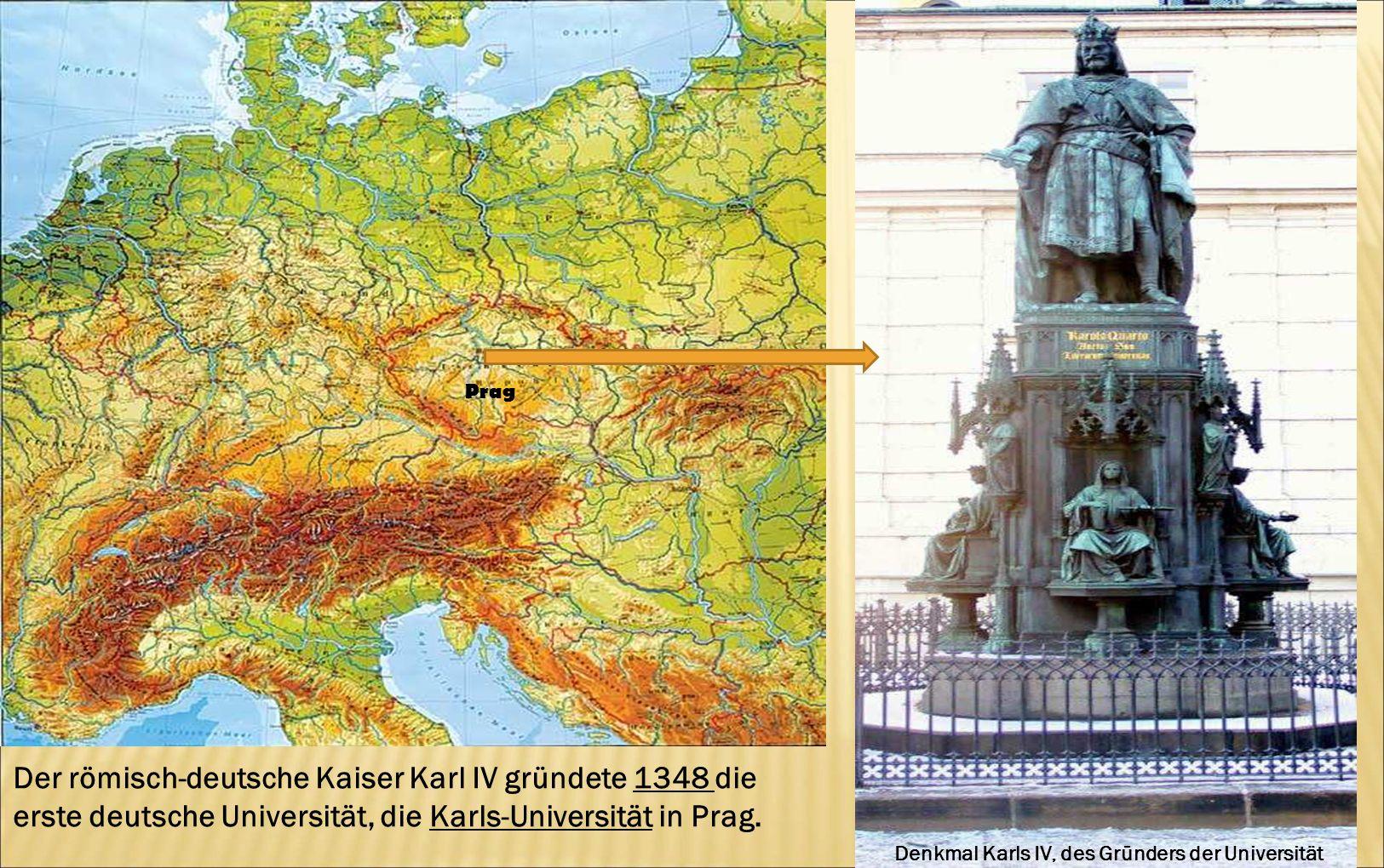 Denkmal Karls IV, des Gründers der Universität