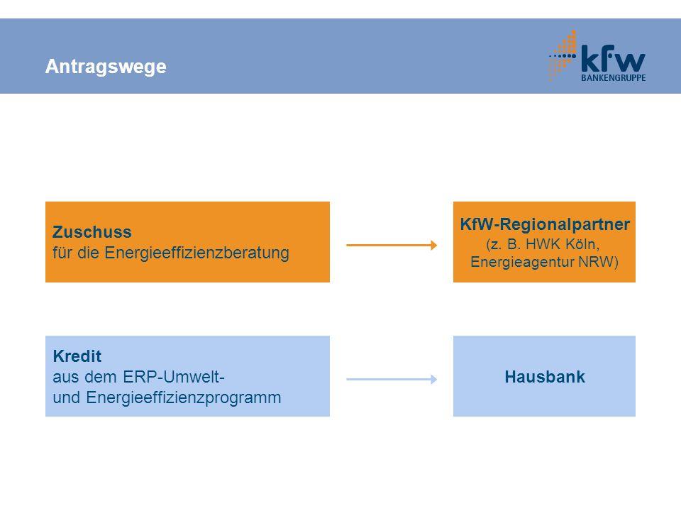 Antragswege Zuschuss für die Energieeffizienzberatung