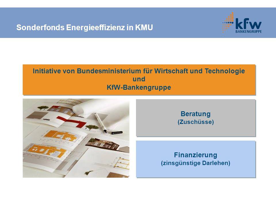 Sonderfonds Energieeffizienz in KMU
