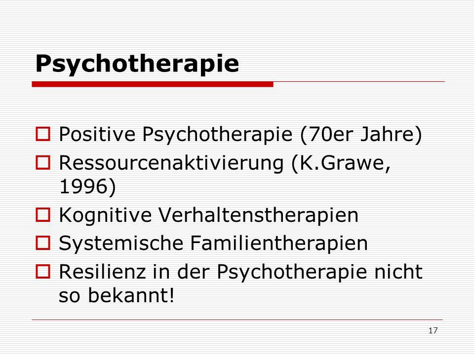 Psychotherapie Positive Psychotherapie (70er Jahre)