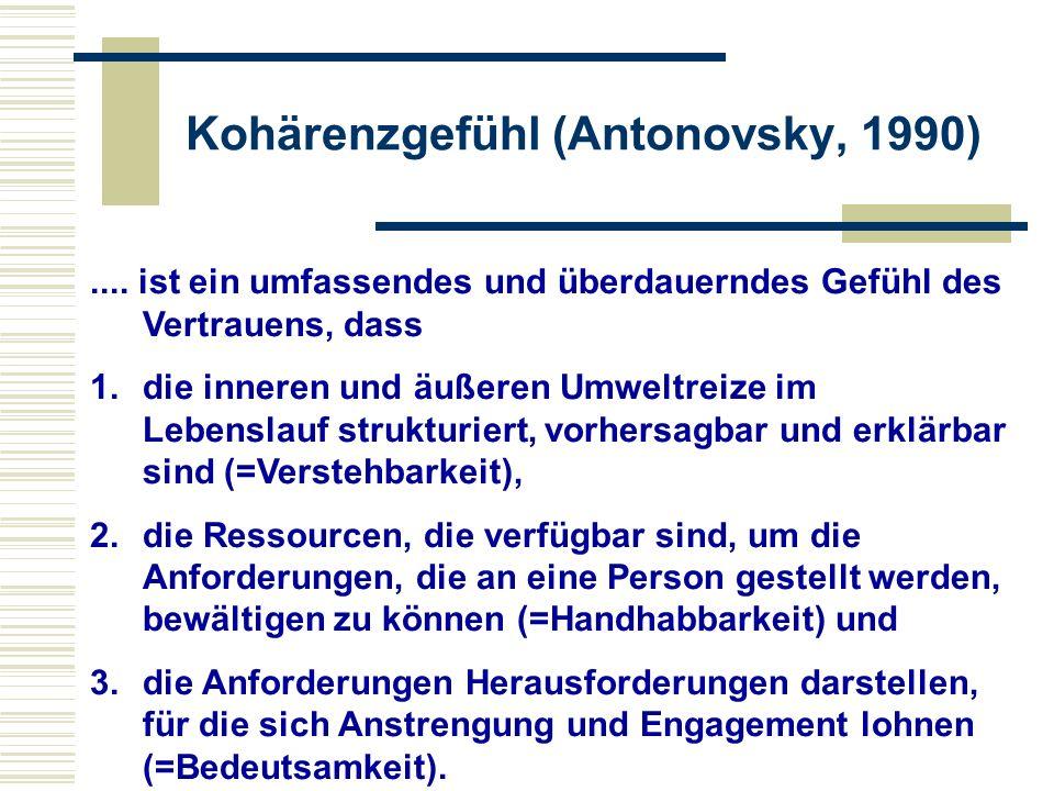 Kohärenzgefühl (Antonovsky, 1990)