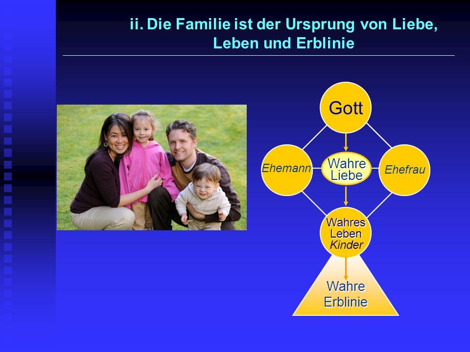 ii. Die Familie ist der Ursprung von Liebe, Leben und Erblinie