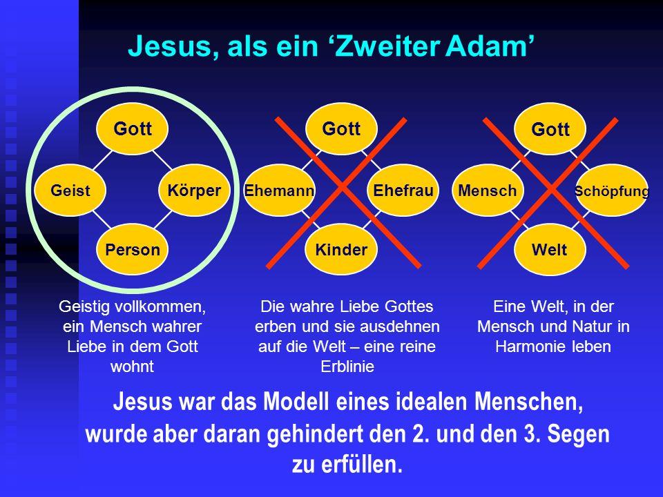 Jesus, als ein 'Zweiter Adam'