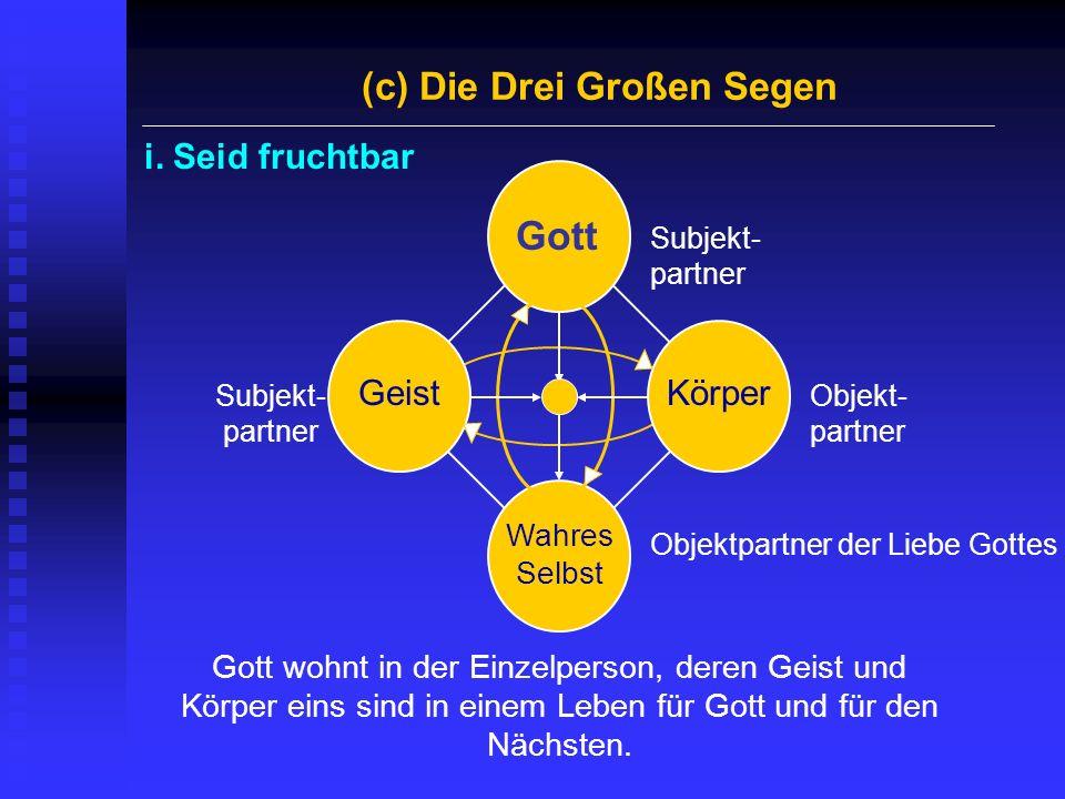 (c) Die Drei Großen Segen