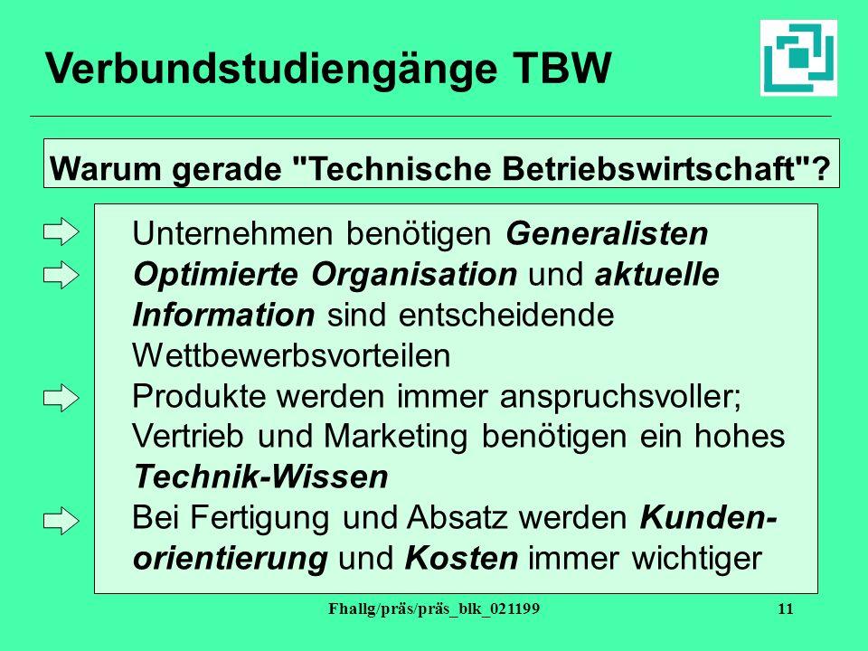 Verbundstudiengänge TBW