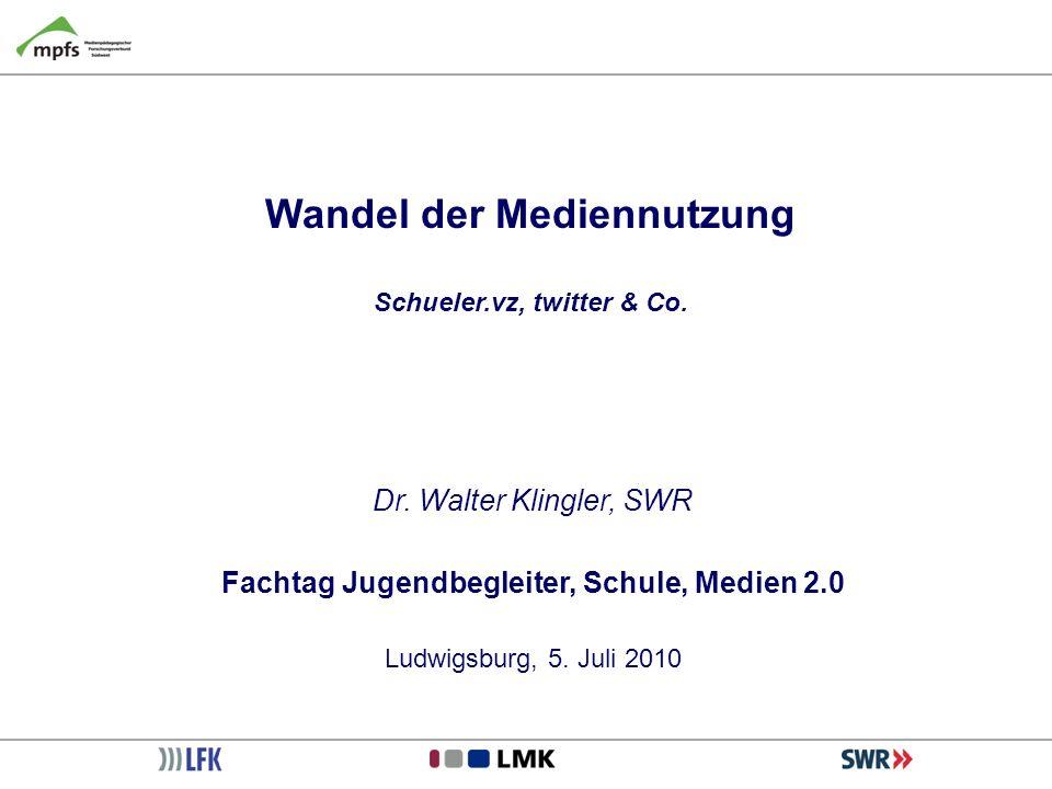 Wandel der Mediennutzung Schueler.vz, twitter & Co.