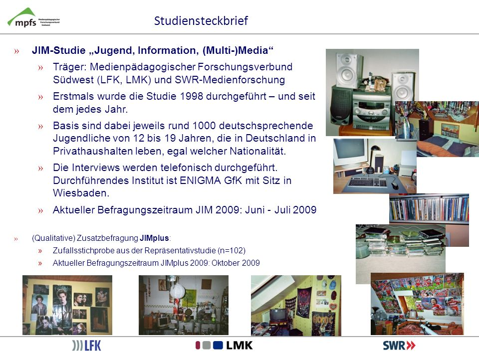 "Studiensteckbrief JIM-Studie ""Jugend, Information, (Multi-)Media"