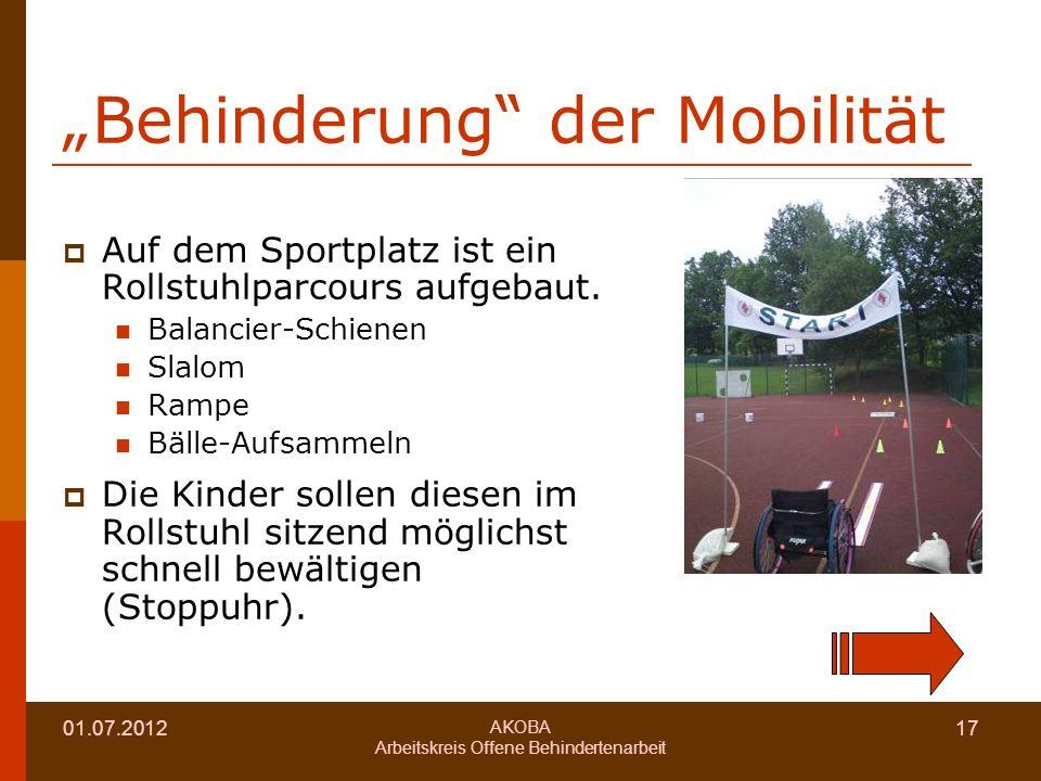 """""""Behinderung der Mobilität"""