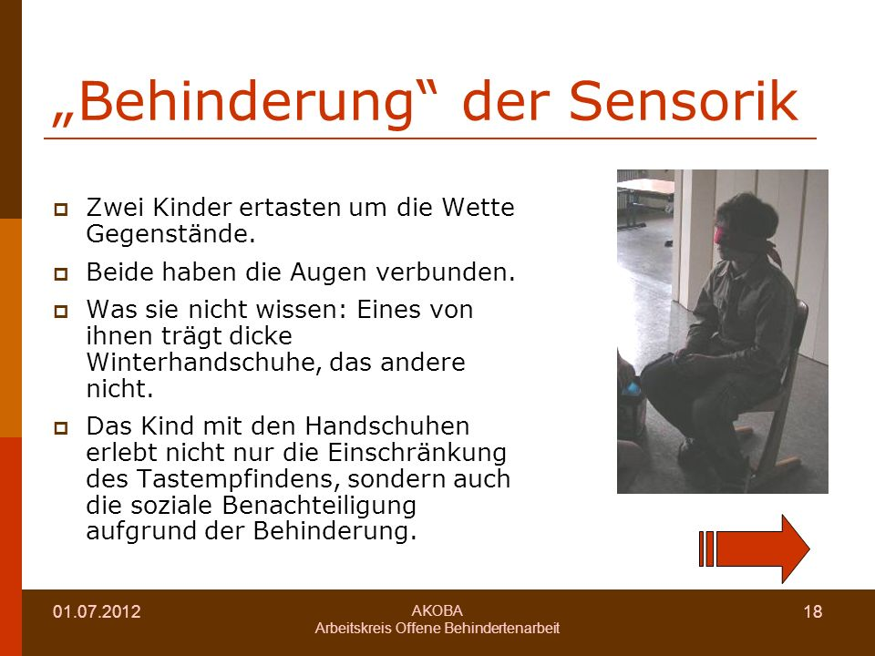 """Behinderung der Sensorik"