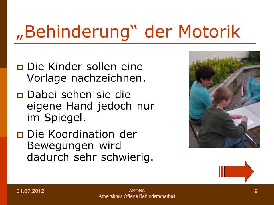 """Behinderung der Motorik"