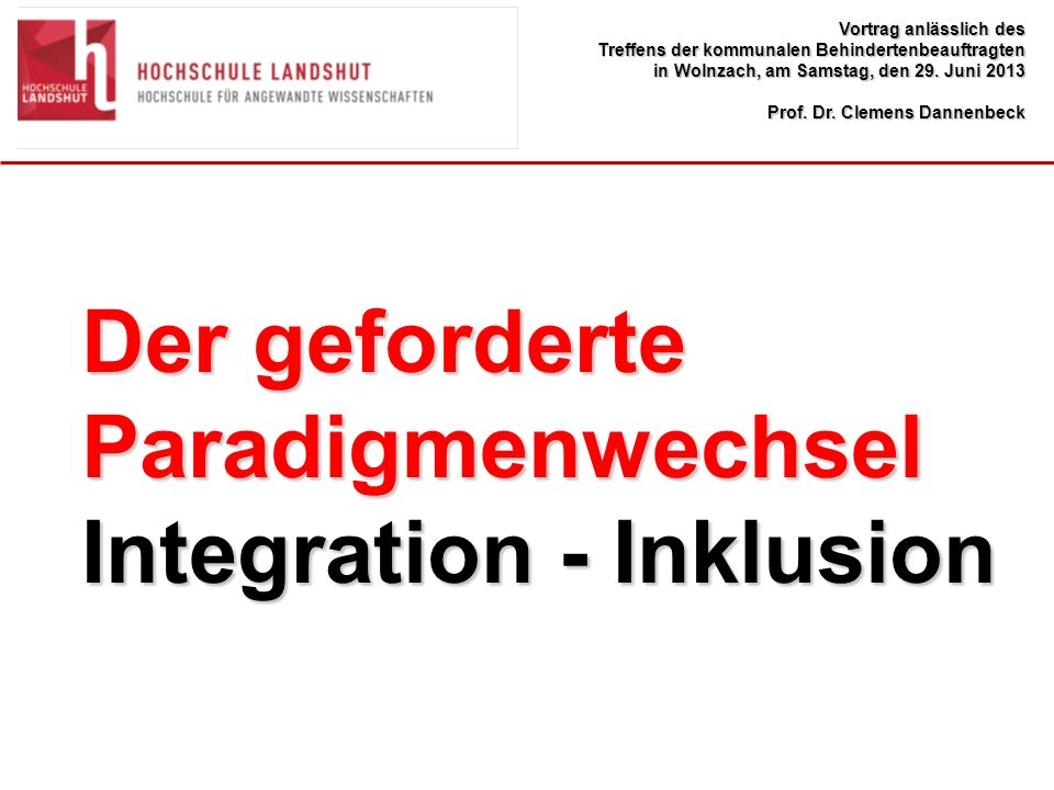 Integration - Inklusion