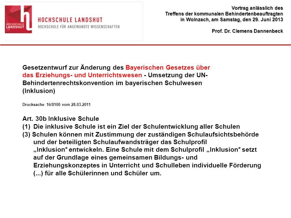 Gesetzentwurf zur Änderung des Bayerischen Gesetzes über