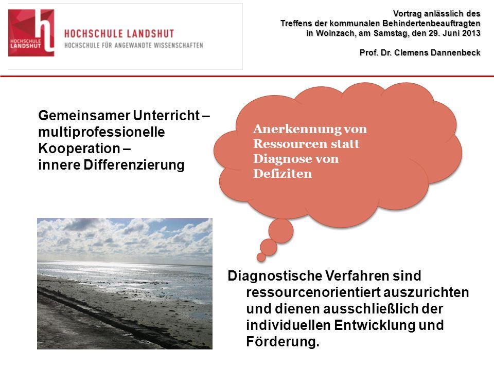 Gemeinsamer Unterricht – multiprofessionelle Kooperation –