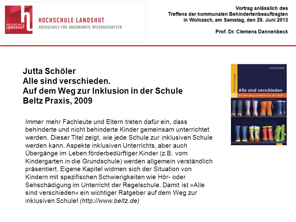 Auf dem Weg zur Inklusion in der Schule Beltz Praxis, 2009