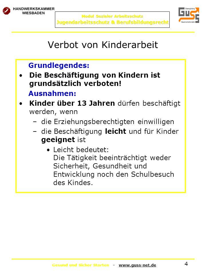 Verbot von Kinderarbeit