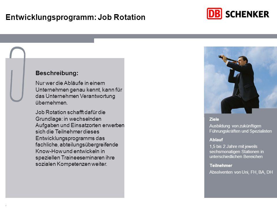 Entwicklungsprogramm: Job Rotation