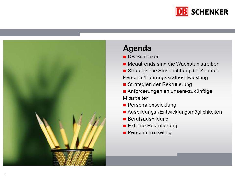Agenda DB Schenker Megatrends sind die Wachstumstreiber