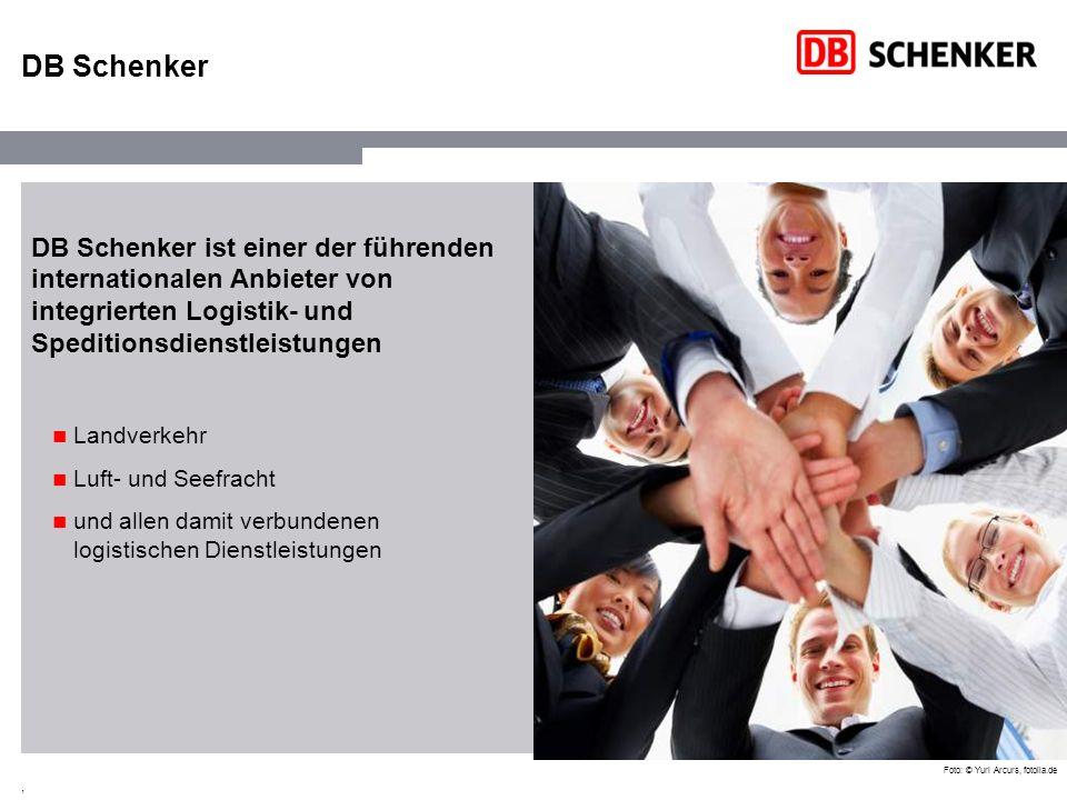 DB Schenker DB Schenker ist einer der führenden internationalen Anbieter von integrierten Logistik- und Speditionsdienstleistungen.