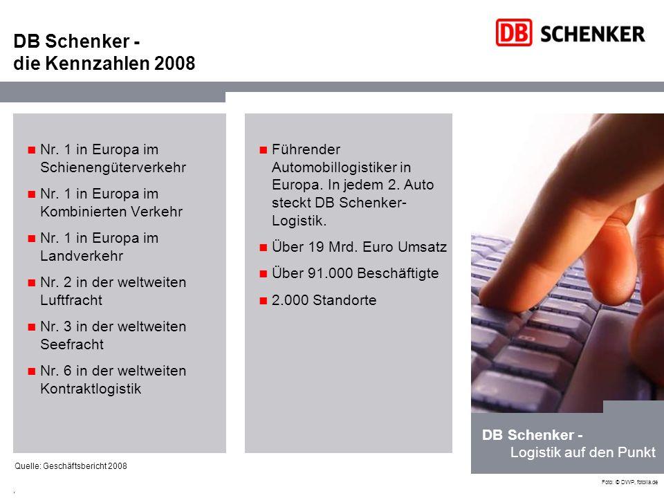 DB Schenker - die Kennzahlen 2008