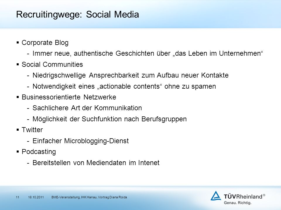 Recruitingwege: Social Media