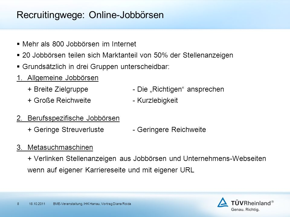 Recruitingwege: Online-Jobbörsen
