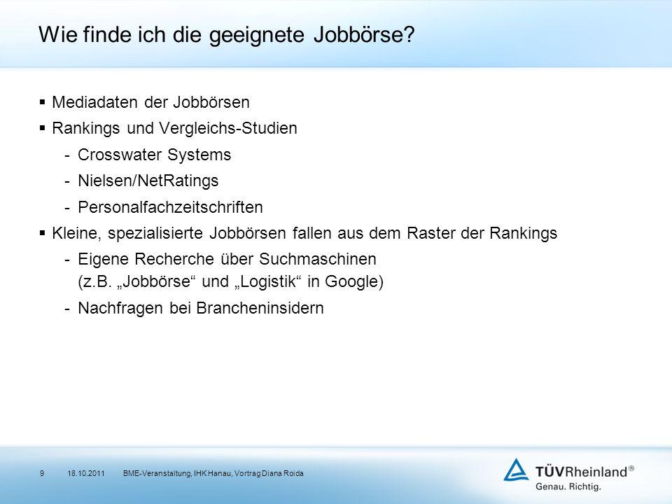 Wie finde ich die geeignete Jobbörse