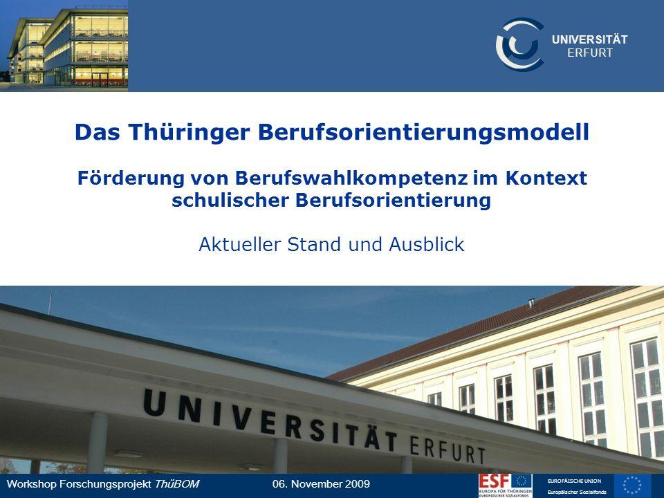 Das Thüringer Berufsorientierungsmodell