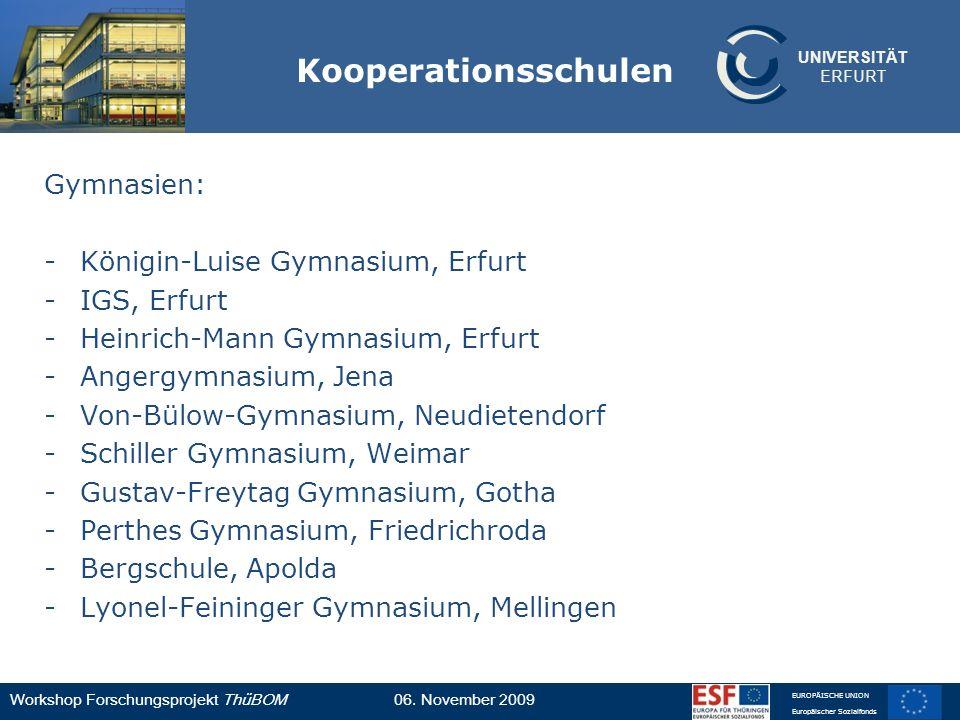 Kooperationsschulen Gymnasien: Königin-Luise Gymnasium, Erfurt