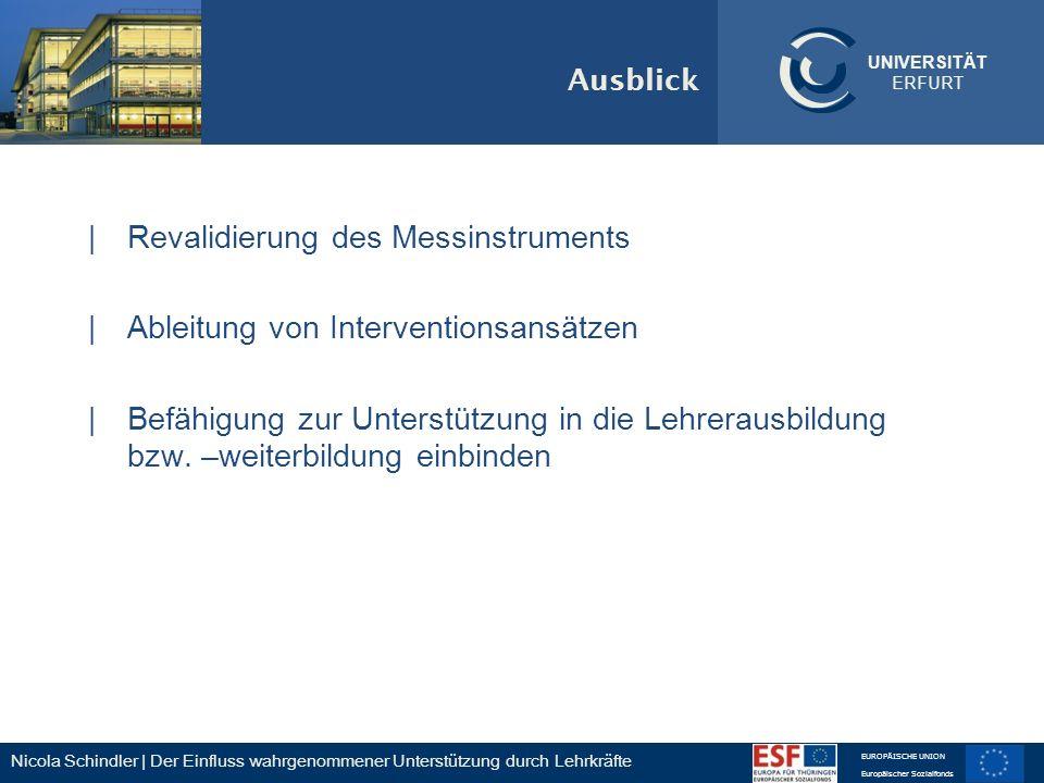 Revalidierung des Messinstruments Ableitung von Interventionsansätzen