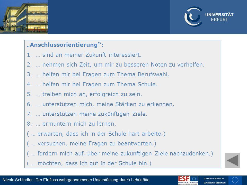 """""""Anschlussorientierung :"""