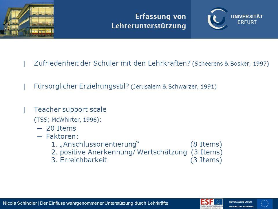Erfassung von Lehrerunterstützung