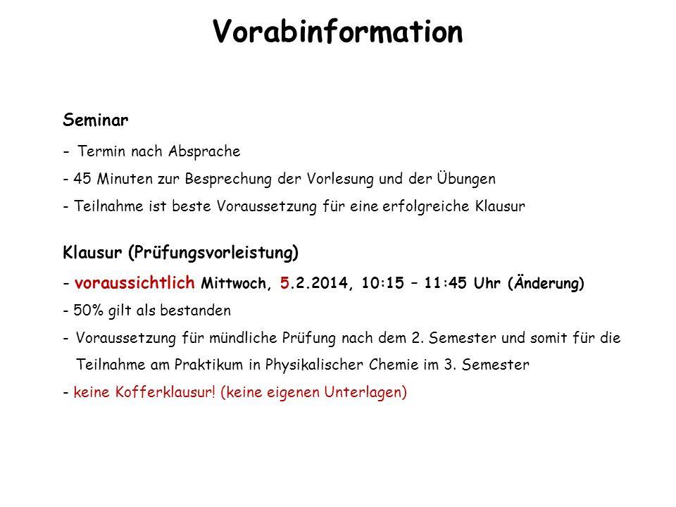 Vorabinformation Seminar Termin nach Absprache