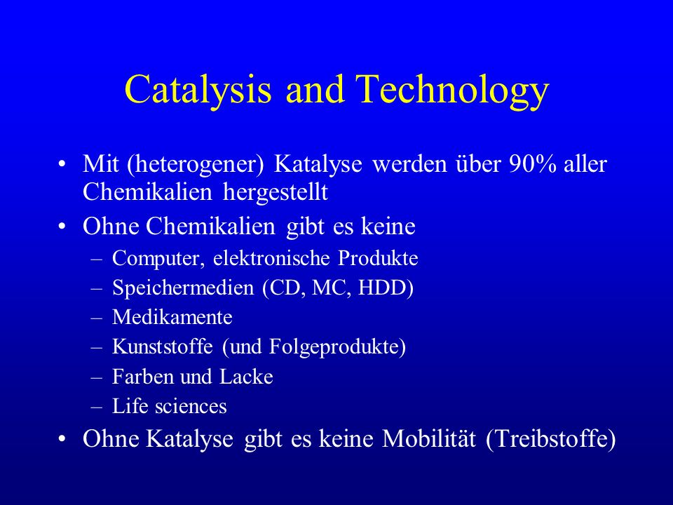 Catalysis and Technology