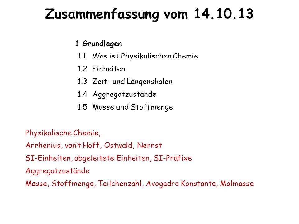 Zusammenfassung vom 14.10.13 1 Grundlagen