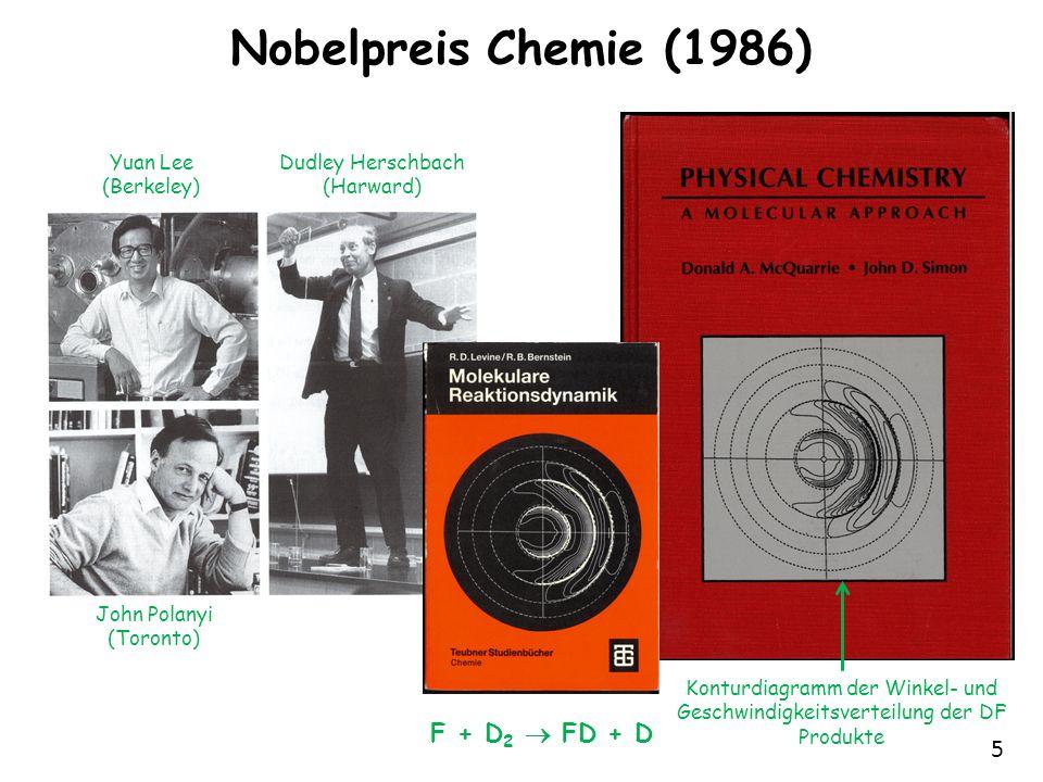 Nobelpreis Chemie (1986) F + D2  FD + D Yuan Lee (Berkeley)