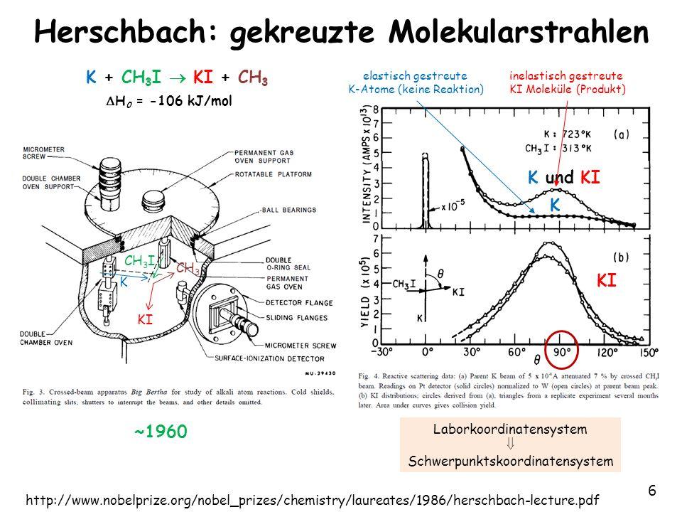 Herschbach: gekreuzte Molekularstrahlen