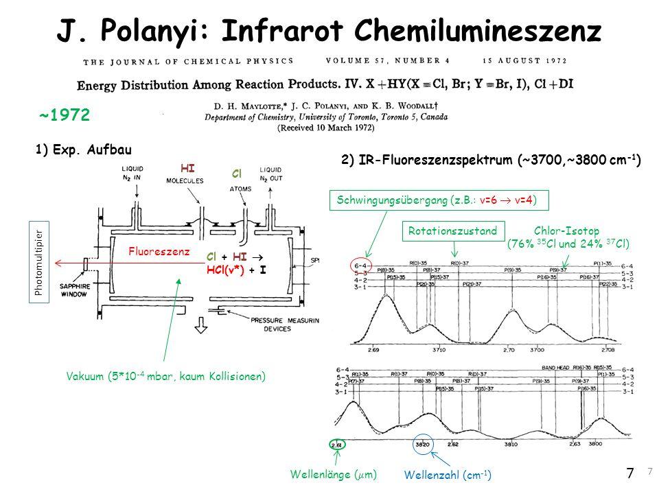 J. Polanyi: Infrarot Chemilumineszenz