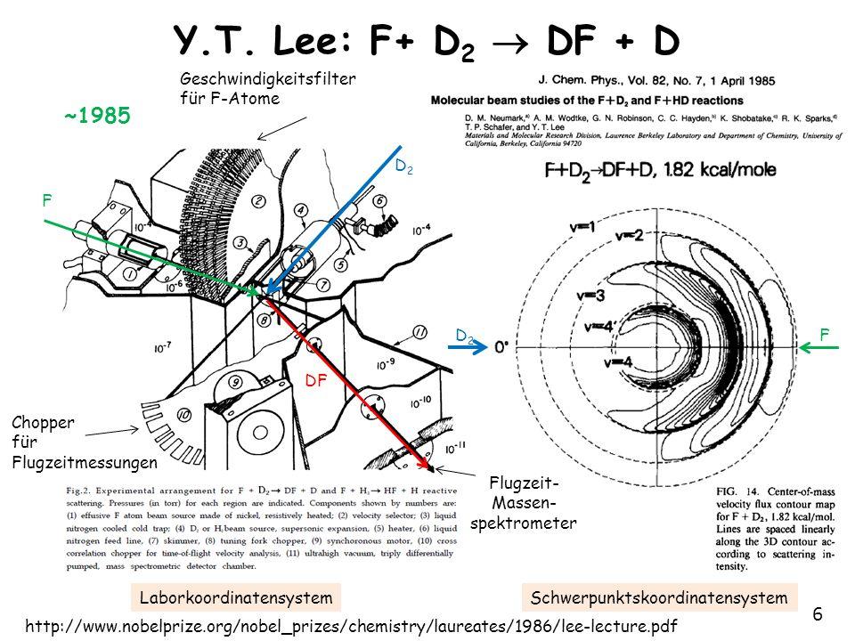 Y.T. Lee: F+ D2  DF + D ~1985 Geschwindigkeitsfilter für F-Atome D2 F