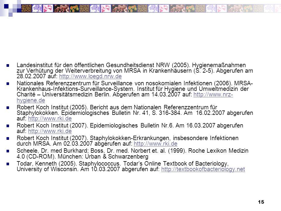 Landesinstitut für den öffentlichen Gesundheitsdienst NRW (2005)