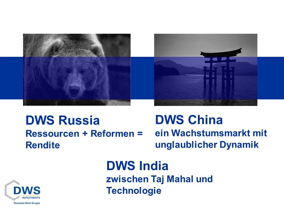 DWS Russia Ressourcen + Reformen = Rendite